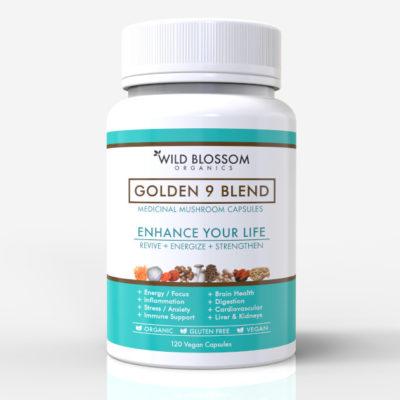 Mushroom Supplement - GOLDEN 9 BLEND CAPSULES
